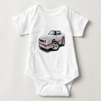 1983-88 Monte Carlo White-Red Car Baby Bodysuit