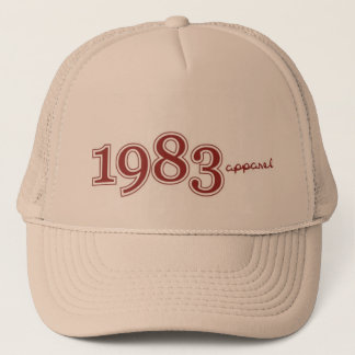 1983 logo trucker hat