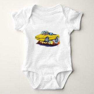 1984-93 Corvette Yellow Convertible Baby Bodysuit