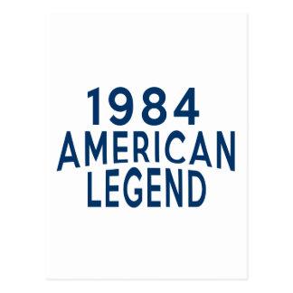 1984 American Legend Birthday Designs Postcard
