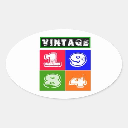 1984 Birthday Designs Stickers