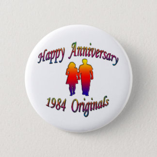 1984 Couple 6 Cm Round Badge