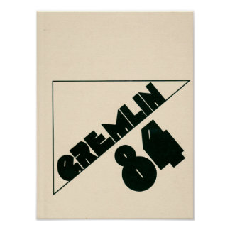1984 Graydon Gremlin Yearbook Poster