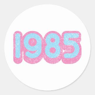 1985 1 ROUND STICKERS