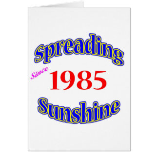 1985 Spreading Sunshine Card