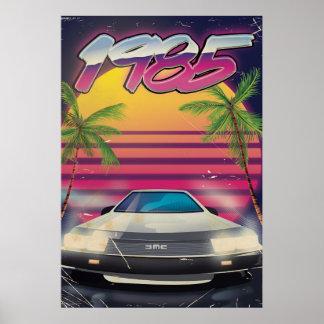 1985 vintage automobile poster