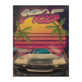 1985 vintage automobile poster wood prints