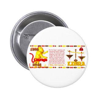 1986 Fire Tiger born Libra Buttons