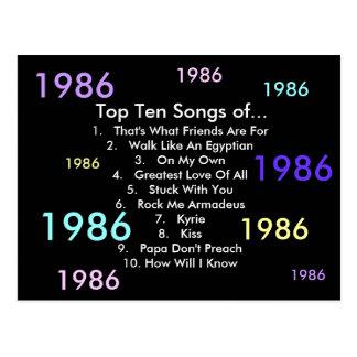 1986 Songs Postcard