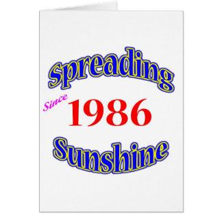 1986 Spreading Sunshine Card