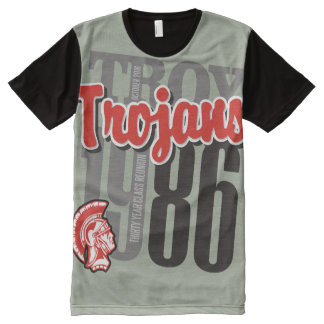 1986 Troy Trojans Over-sized Print Tee