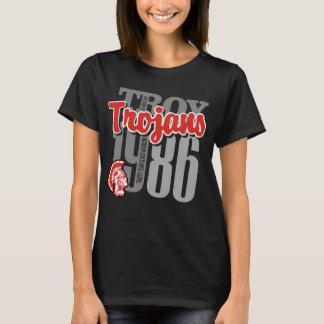 1986 Troy Trojans Woman's Dark Tee
