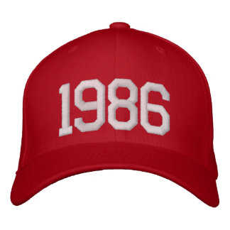 1986 Year Embroidered Hat