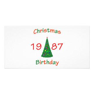 1987 Christmas Birthday Customized Photo Card