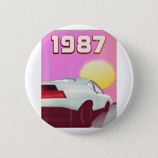1987 sportscar poster 6 cm round badge