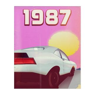 1987 sportscar poster acrylic print