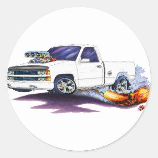 1988-98 Silverado WhiteTruck Classic Round Sticker