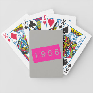 1988 Birthday Pink 80's Theme Retro Throwback Bicycle Playing Cards
