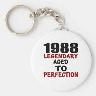 1988 LEGENDARY AGED TO PERFECTION BASIC ROUND BUTTON KEY RING