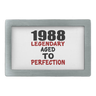 1988 LEGENDARY AGED TO PERFECTION BELT BUCKLE