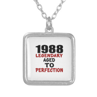 1988 LEGENDARY AGED TO PERFECTION SILVER PLATED NECKLACE