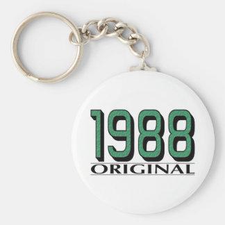 1988 Original Basic Round Button Key Ring