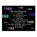 1988 Songs Postcard