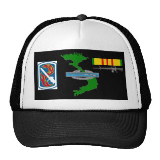 198th Light Brigade Vietnam Veteran Ball Caps Mesh Hat