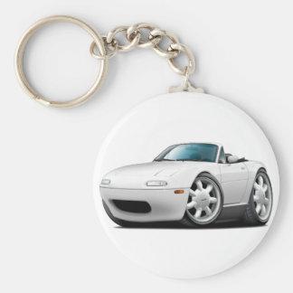 1990-98 Miata White Car Key Ring