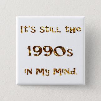 1990s Nostalgia Gold Glitter 15 Cm Square Badge