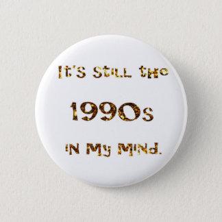 1990s Nostalgia Gold Glitter 6 Cm Round Badge