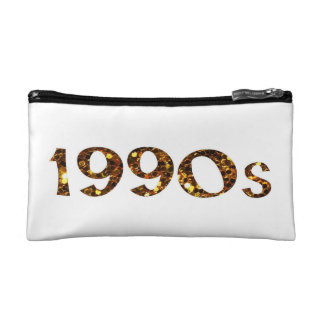 1990s Nostalgia Gold Glitter double-sided Cosmetic Bag