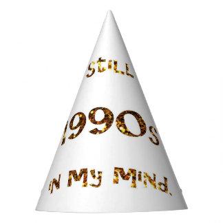 1990s Nostalgia Gold Glitter Party Hat