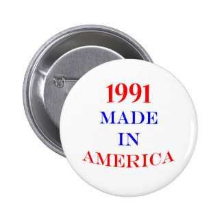 1991 Made in America 6 Cm Round Badge