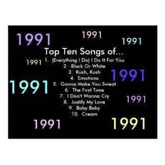 1991 Songs Postcard