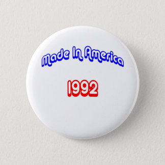 1992 Made In America 6 Cm Round Badge