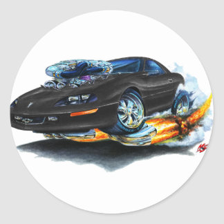 1993-97 Camaro Black Car Classic Round Sticker