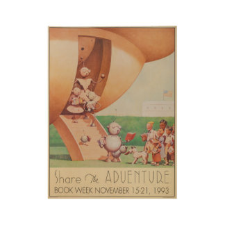 1993 Children's Book Week Wood Poster