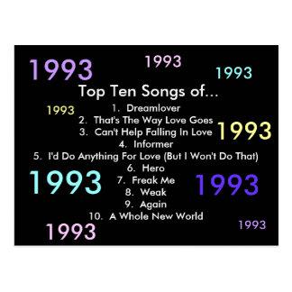 1993 Songs Postcard
