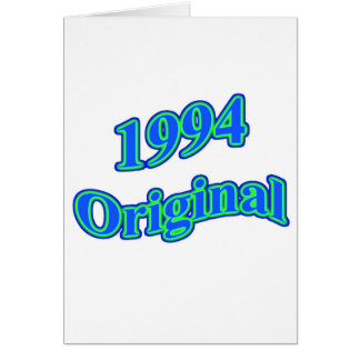 1994 Original Blue Green Card