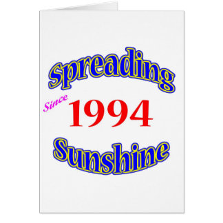 1994 Spreading Sunshine Card