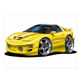 1998-02 Trans Am Yellow Car Postcard