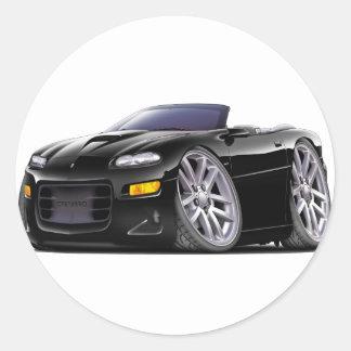1998-03 Camaro SS Black Convertible Classic Round Sticker