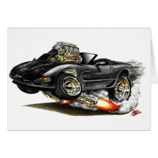 1998-2004 Corvette Black Convertible Card