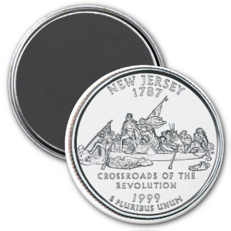 1999 New Jersey State Quarter magnet