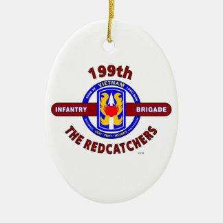 "199TH INFANTRY BRIGADE "" THE REDCATCHERS""VIETNAM CERAMIC ORNAMENT"