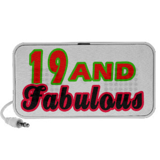 19 and Fabulous Birthday Designs Travel Speaker