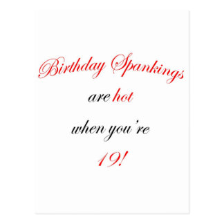 19 Birthday Spanking Post Card