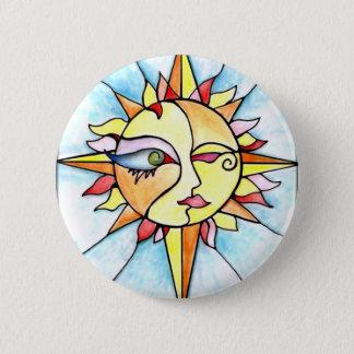 19 - Sun 6 Cm Round Badge