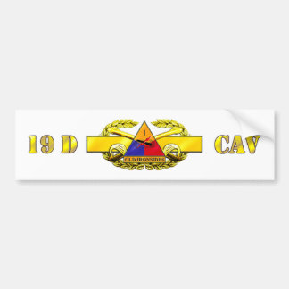 19D 1st Armored Division Car Bumper Sticker